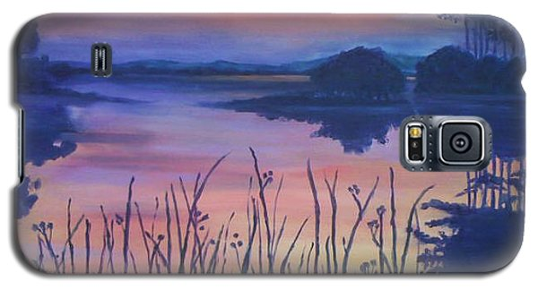 Galaxy S5 Case featuring the painting Chincoteaque Island Sunset by Julie Brugh Riffey