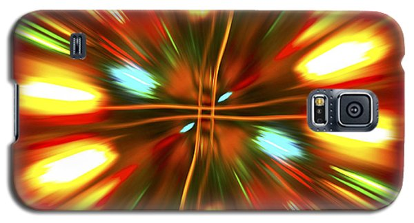 Galaxy S5 Case featuring the photograph Christmas Light Abstract by Steve Purnell