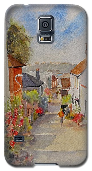 Galaxy S5 Case featuring the painting Church Hill - Hythe- Uk by Beatrice Cloake