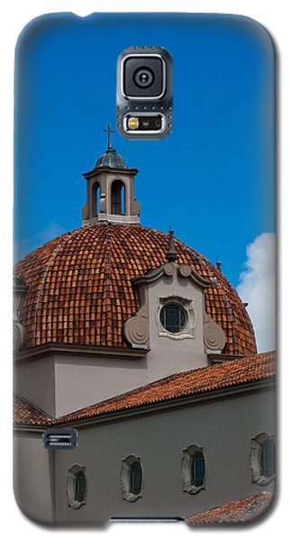 Galaxy S5 Case featuring the photograph Church Of The Little Flower Dome And Cross by Ed Gleichman