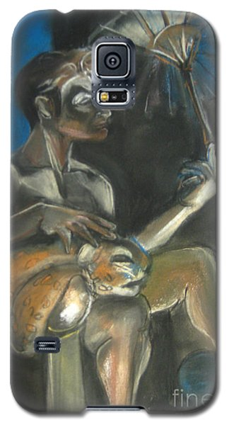Circus Man With Tiger Galaxy S5 Case