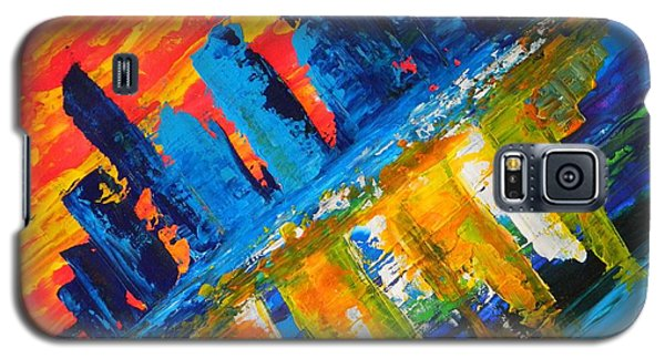 Galaxy S5 Case featuring the painting City By The Sea by Everette McMahan jr