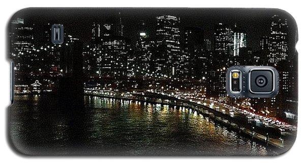 Light Galaxy S5 Case - City Lights - New York by Joel Lopez