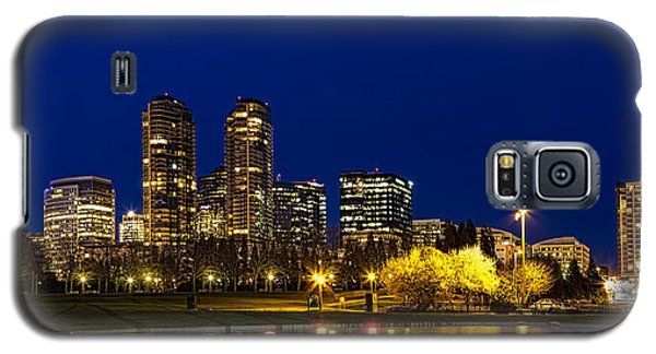 Galaxy S5 Case featuring the photograph City Night Lights by Ken Stanback