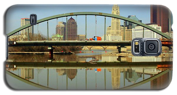 City Reflections Through A Bridge Galaxy S5 Case by Laurel Talabere