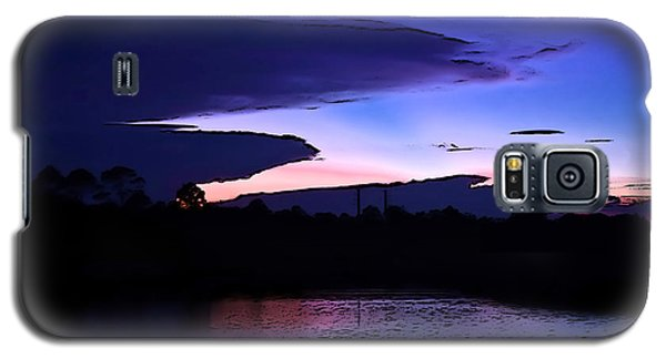 Galaxy S5 Case featuring the photograph Clouded Sunset Over The Tomoka by DigiArt Diaries by Vicky B Fuller