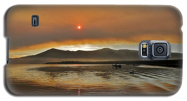 Clouds And Sun In A Smoky Sky Galaxy S5 Case by Kirsten Giving