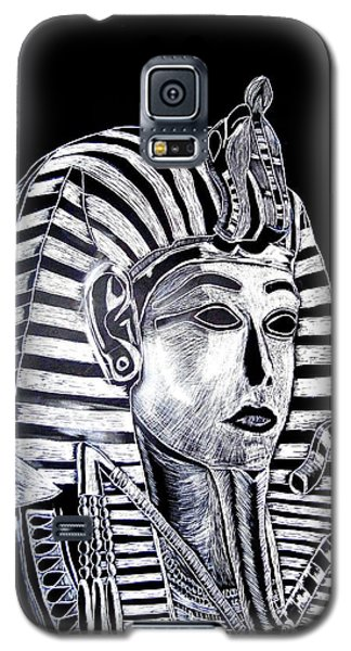 Galaxy S5 Case featuring the drawing Coffin Of The King by Lisa Brandel