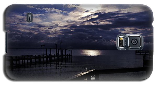Galaxy S5 Case featuring the photograph Cold Night On The Water by Clayton Bruster