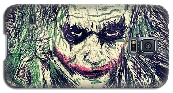 Superhero Galaxy S5 Case - College Work 08' #joker #art by Gary West