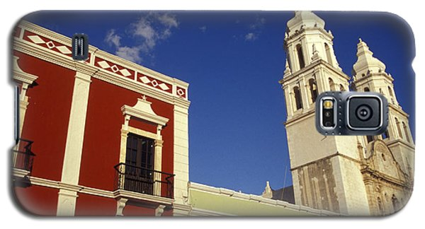 Galaxy S5 Case featuring the photograph Colonial Colors Campeche Mexico by John  Mitchell