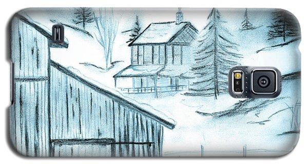 Galaxy S5 Case featuring the drawing Colorado Farm by Shannon Harrington