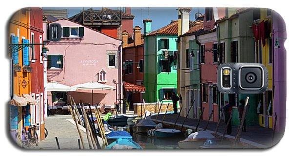 Galaxy S5 Case featuring the photograph Colored Channel by Raffaella Lunelli