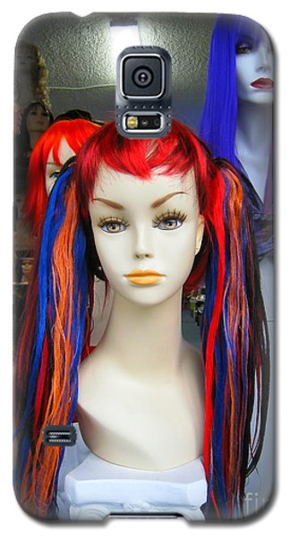 Galaxy S5 Case featuring the photograph Colored Hairdo by John King