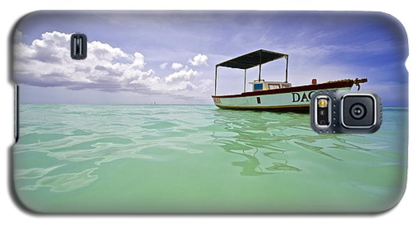 Colorful Fishing Boat Of The Caribbean  Galaxy S5 Case
