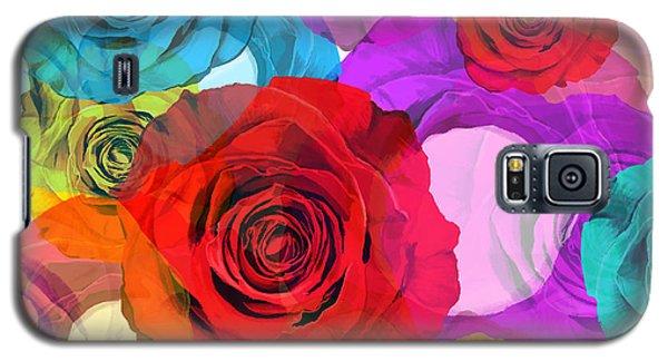 Colorful Floral Design  Galaxy S5 Case