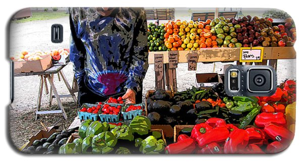 Galaxy S5 Case featuring the photograph Colorful Fruit And Veggie Stand by Kym Backland