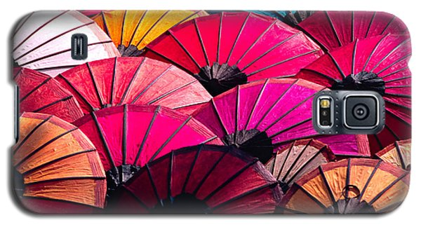 Galaxy S5 Case featuring the photograph Colorful Umbrella by Luciano Mortula