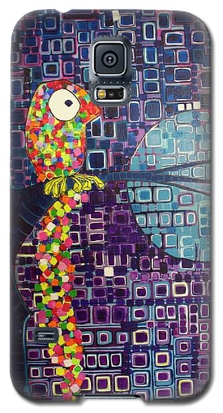 Galaxy S5 Case featuring the painting Confetti Bird by Donna Howard