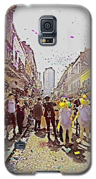 Confetti Sky On Mardi Gras Day In New Orleans Galaxy S5 Case