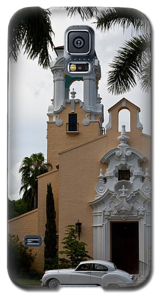Galaxy S5 Case featuring the photograph Congregational Church Front Door by Ed Gleichman