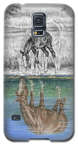 Contemplating Reality - Mare And Foal Horse Print Galaxy S5 Case