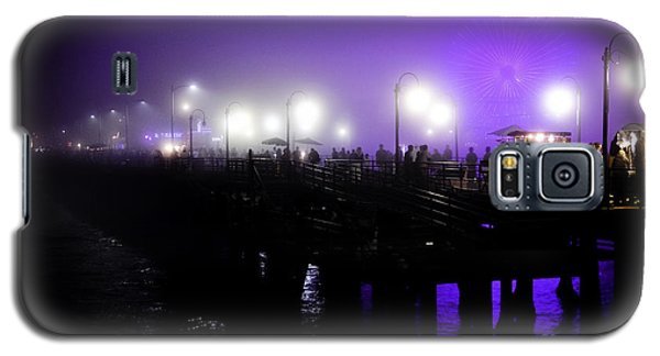 Galaxy S5 Case featuring the photograph Cool Night At Santa Monica Pier by Clayton Bruster