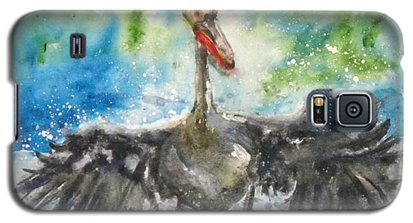 Galaxy S5 Case featuring the painting Cooling Off by Anna Ruzsan