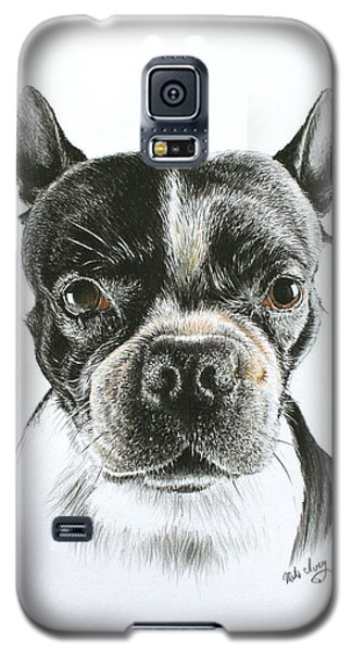 Galaxy S5 Case featuring the drawing Cooper by Mike Ivey