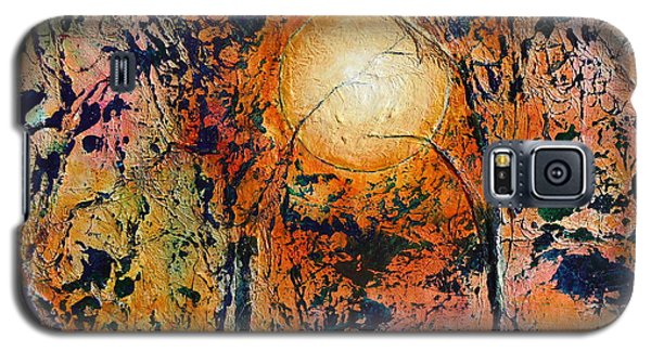 Galaxy S5 Case featuring the painting Copper Moon by Dan Whittemore