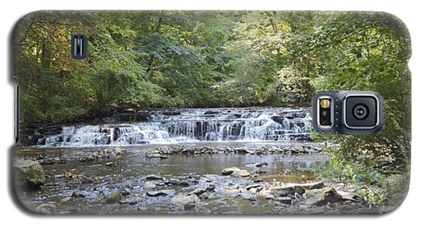 Galaxy S5 Case featuring the photograph Corbetts Glen Waterfall by William Norton