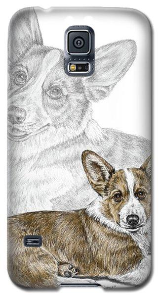 Corgi Dog Art Print Color Tinted Galaxy S5 Case