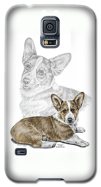 Corgi Dog Art Print Color Tinted Galaxy S5 Case