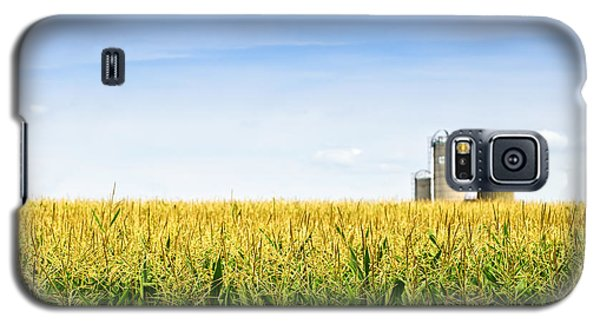 Corn Field With Silos Galaxy S5 Case