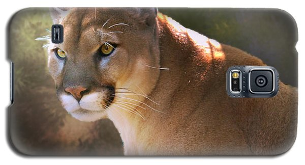 Galaxy S5 Case featuring the digital art Cougar by Mary Almond