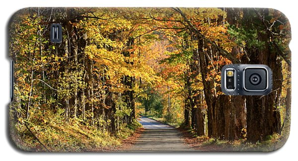 Country Roads In Autumn Galaxy S5 Case by Robin Regan