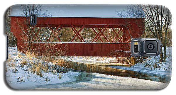 Galaxy S5 Case featuring the photograph Covered Bridge by Eunice Gibb