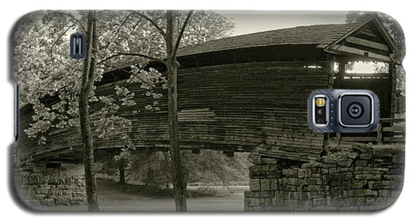 Galaxy S5 Case featuring the photograph Covered Bridge by Mary Almond