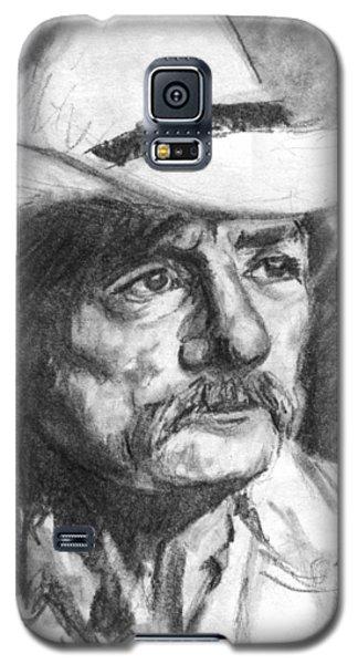 Cowboy In Hat Sketch Galaxy S5 Case