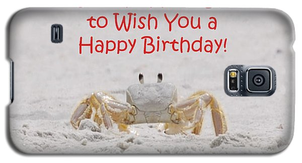 Crab Happy Birthday Galaxy S5 Case