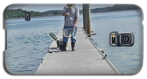 Galaxy S5 Case featuring the photograph Crabber Man by Patricia Greer