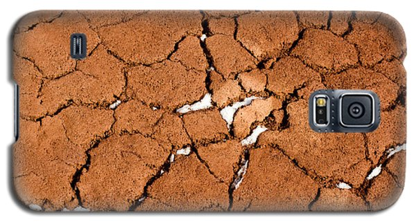 Galaxy S5 Case featuring the photograph Cracked Red Soil  by Les Palenik
