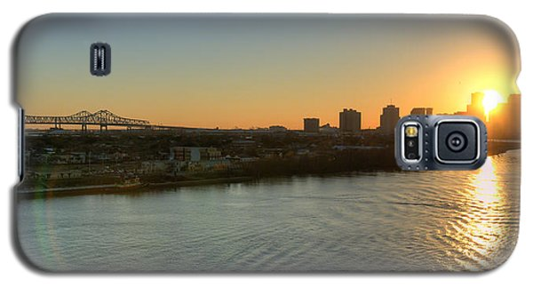 Galaxy S5 Case featuring the photograph Crescent City Sunset by Ray Devlin