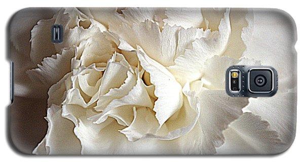 Galaxy S5 Case featuring the photograph Crisp Carnation Photo by Deniece Platt
