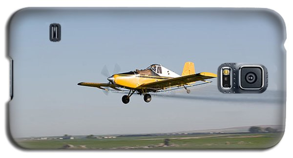 Crop Duster Flying Over Farm  Galaxy S5 Case