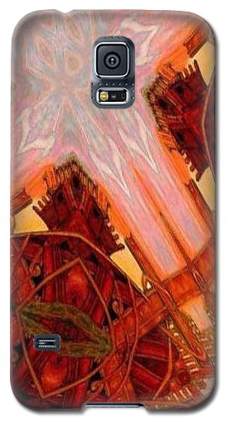 Galaxy S5 Case featuring the mixed media Cross Nine Eleven Aftershock  by Ray Tapajna