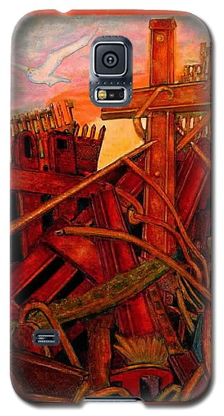 Galaxy S5 Case featuring the mixed media Cross Of Nine Eleven Tangle Of Terror  by Ray Tapajna