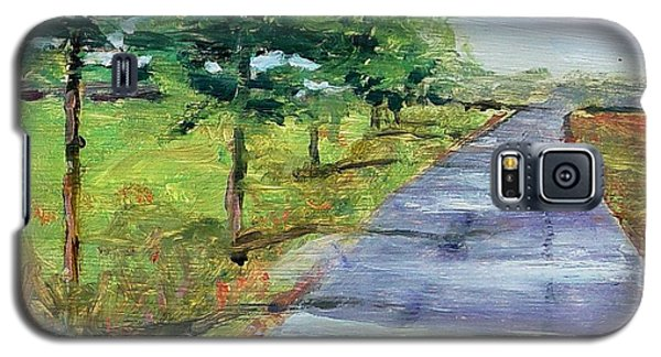 Galaxy S5 Case featuring the painting Cypress Lane by Carol Berning