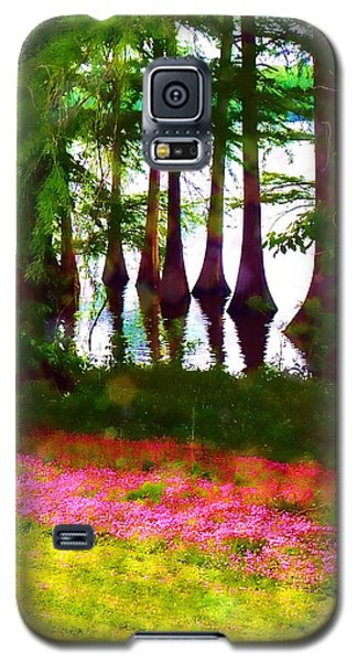 Cypress With Oxalis Galaxy S5 Case by Judi Bagwell