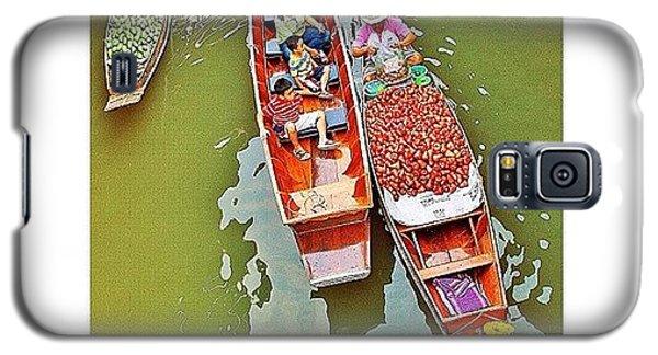 Famous Artist Galaxy S5 Case - Damnoen Saduak Floating Market Bangkok by Tommy Tjahjono